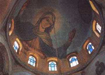 Painting of Middle Dome, the Apparition Church